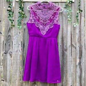 Adorable Lacy Purple Dress Small